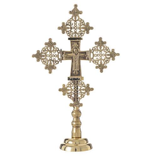 Altar crucifix Christ glorious Bethlehem monks 31x19cm 1