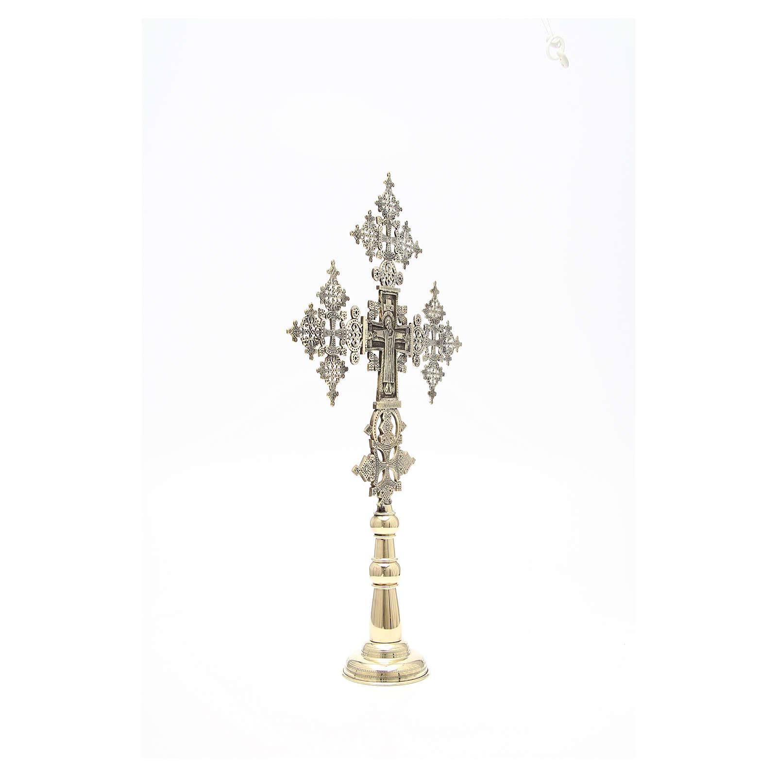 Croce da altare Cristo Glorioso Monaci di Betlemme 75x49 cm 4