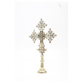 Croce da altare Cristo Glorioso Monaci di Betlemme 75x49 cm s6