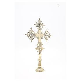 Croce da altare Cristo Glorioso Monaci di Betlemme 75x49 cm s7