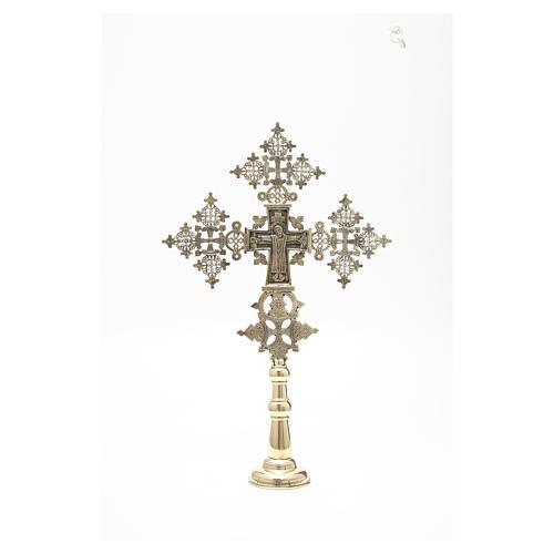 Croce da altare Cristo Glorioso Monaci di Betlemme 75x49 cm 5