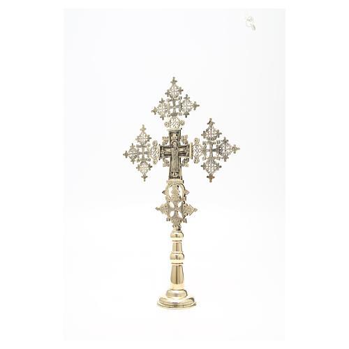 Croce da altare Cristo Glorioso Monaci di Betlemme 75x49 cm 6