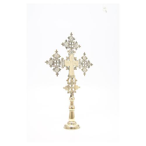 Croce da altare Cristo Glorioso Monaci di Betlemme 75x49 cm 7