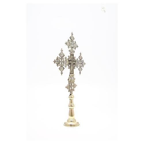 Croce da altare Cristo Glorioso Monaci di Betlemme 75x49 cm 8