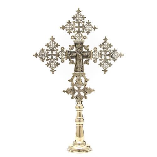 Croce da altare Cristo Glorioso Monaci di Betlemme 75x49 cm 1