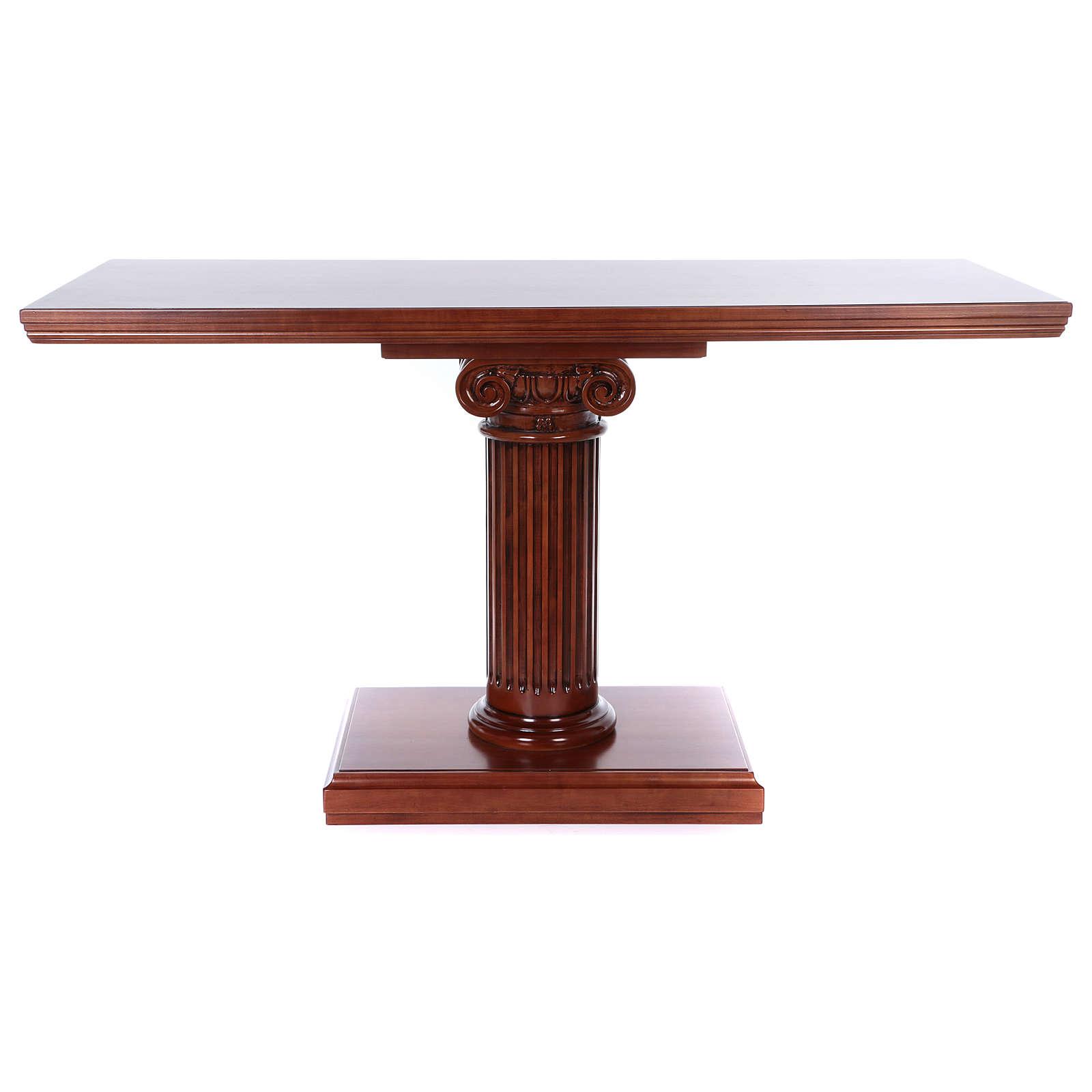 Autel avec colonne bois noyer 170x70x92 cm 4