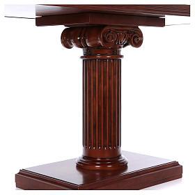 Autel avec colonne bois noyer 170x70x92 cm s2