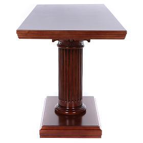 Autel avec colonne bois noyer 170x70x92 cm s5