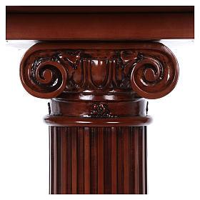 Autel avec colonne bois noyer 170x70x92 cm s6