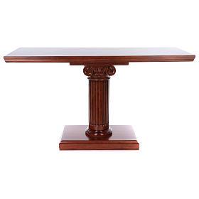 Autel avec colonne bois noyer 170x70x92 cm s8