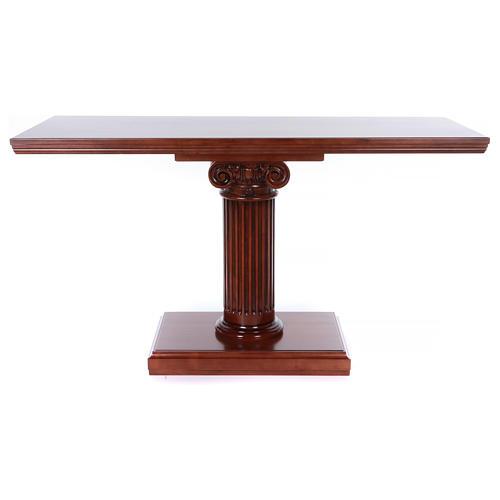 Autel avec colonne bois noyer 170x70x92 cm 1