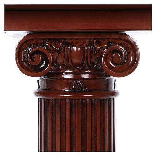 Autel avec colonne bois noyer 170x70x92 cm 6