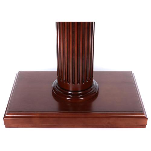 Autel avec colonne bois noyer 170x70x92 cm 7