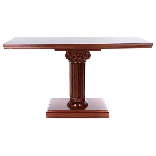Autel avec colonne bois noyer 170x70x92 cm 8