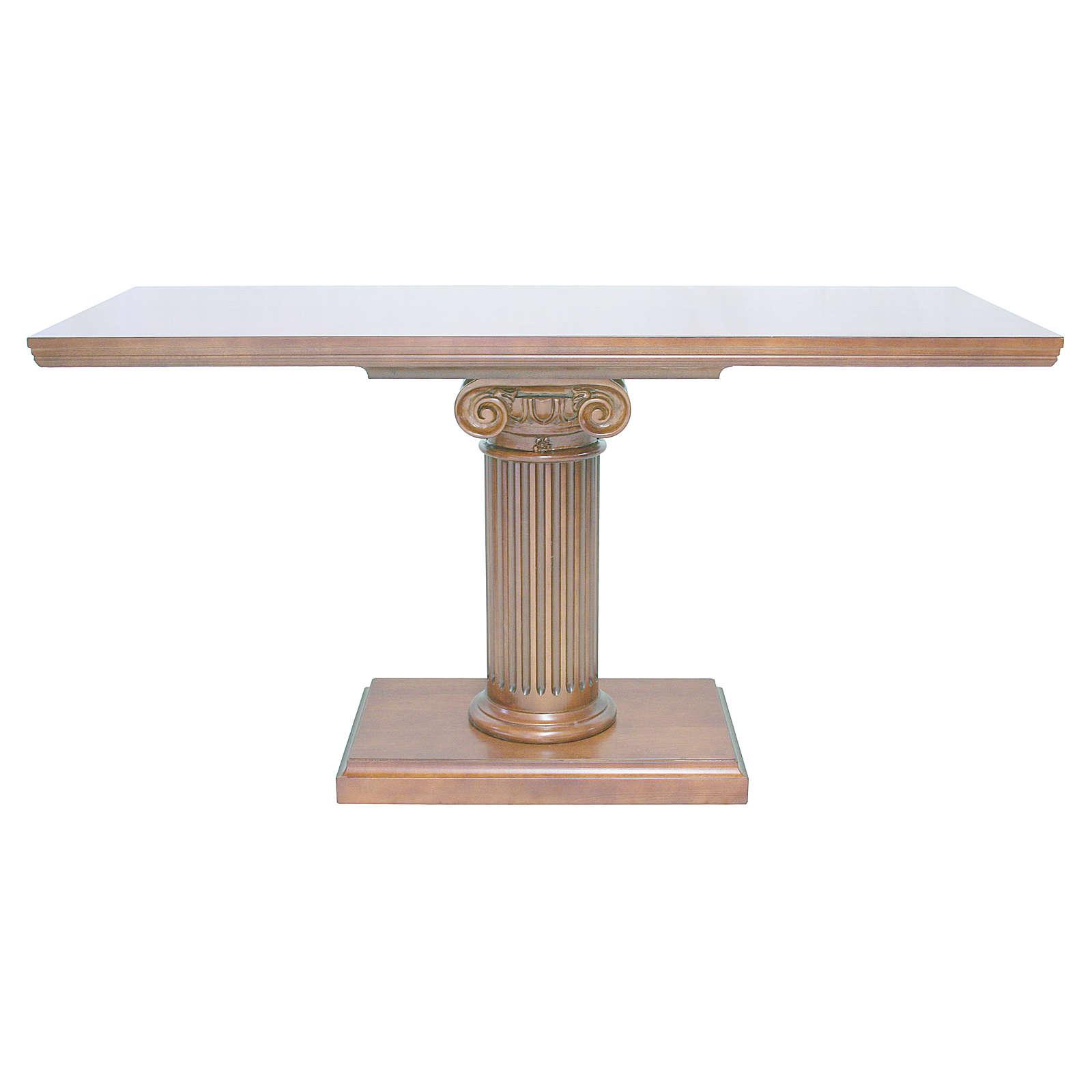 Altare con colonna legno noce 170x70x92 cm 4