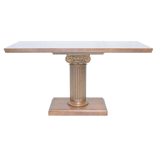 Altare con colonna legno noce 170x70x92 cm 1