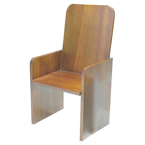 Sede moderna legno di noce 1