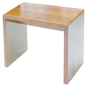 Sgabello moderno legno di noce s1