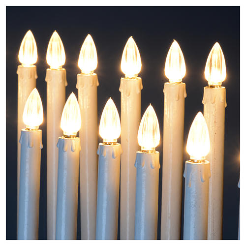 Electric votive offering 31 candles, 12V lights and buttons 10