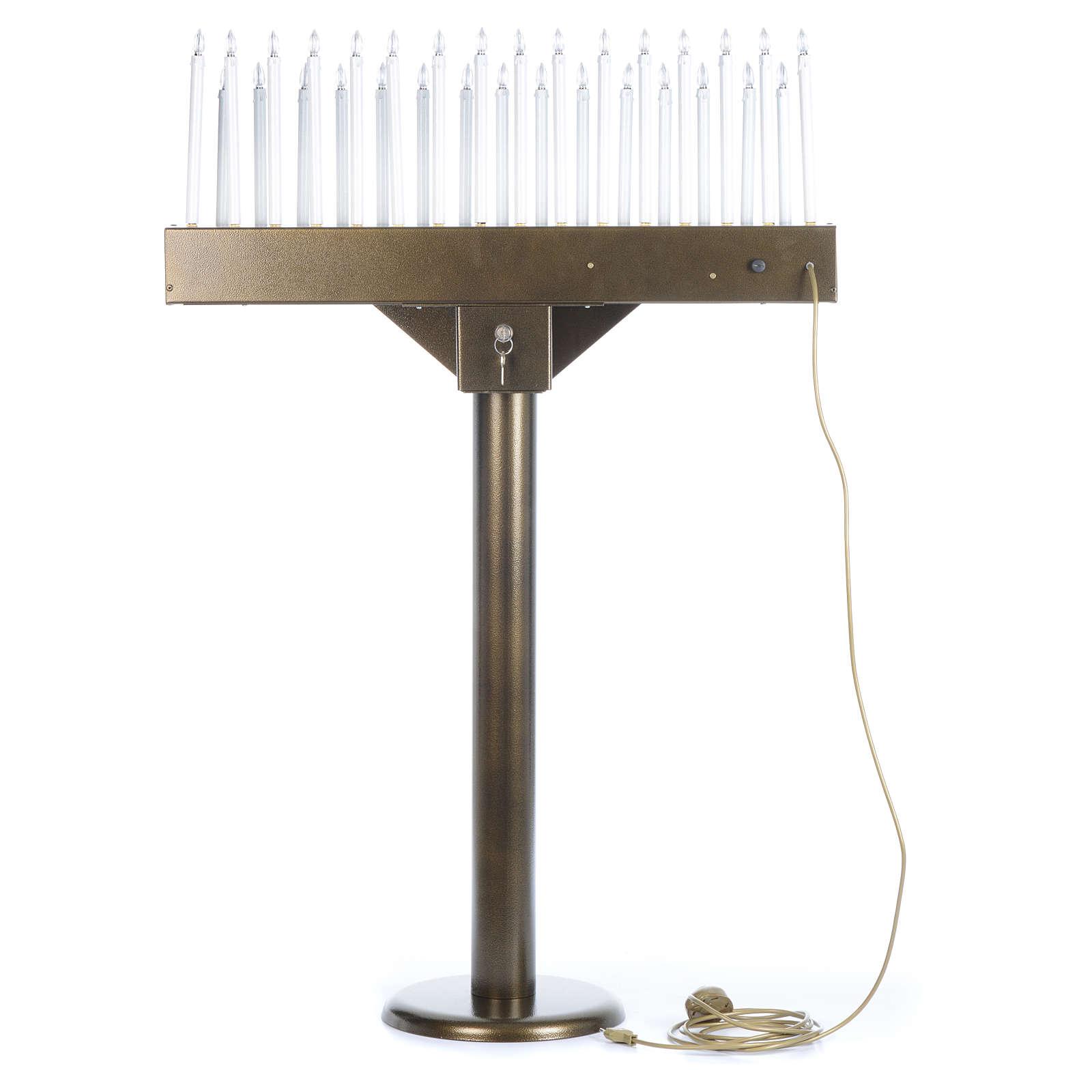 Lampadario electónico para ofrendas 31 velas, lámparas con botones 12 V 4