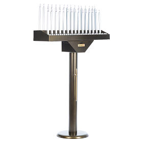 Lampadario electónico para ofrendas 31 velas, lámparas con botones 12 V s2