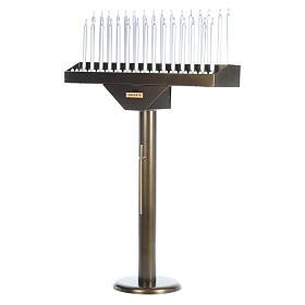 Lampadario electónico para ofrendas 31 velas, lámparas con botones 12 V s3