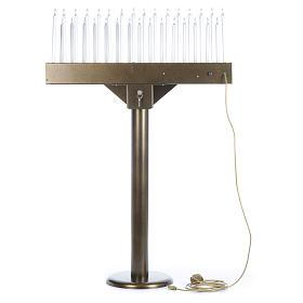 Lampadario electónico para ofrendas 31 velas, lámparas con botones 12 V s4