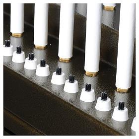 Lampadario electónico para ofrendas 31 velas, lámparas con botones 12 V s8