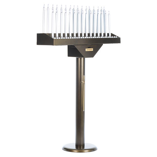 Lampadario electónico para ofrendas 31 velas, lámparas con botones 12 V 2