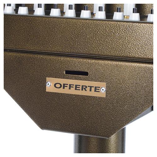 Lampadario electónico para ofrendas 31 velas, lámparas con botones 12 V 7