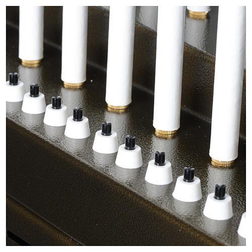 Lampadario electónico para ofrendas 31 velas, lámparas con botones 12 V 8