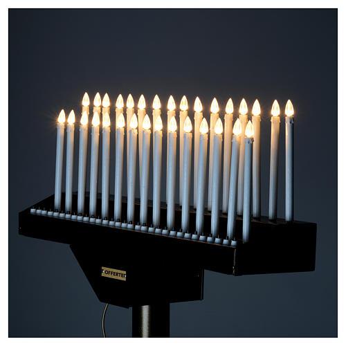 Lampadario electónico para ofrendas 31 velas, lámparas con botones 12 V 9