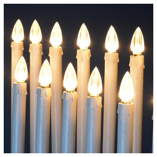 Lampadario electónico para ofrendas 31 velas, lámparas con botones 12 V 10