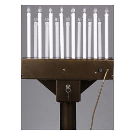 Electric votive offering with 15 candles, 12V lights and buttons s8
