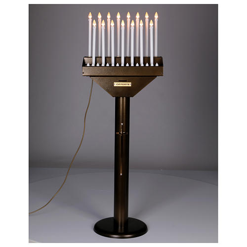 Electric votive offering with 15 candles, 12V lights and buttons 2