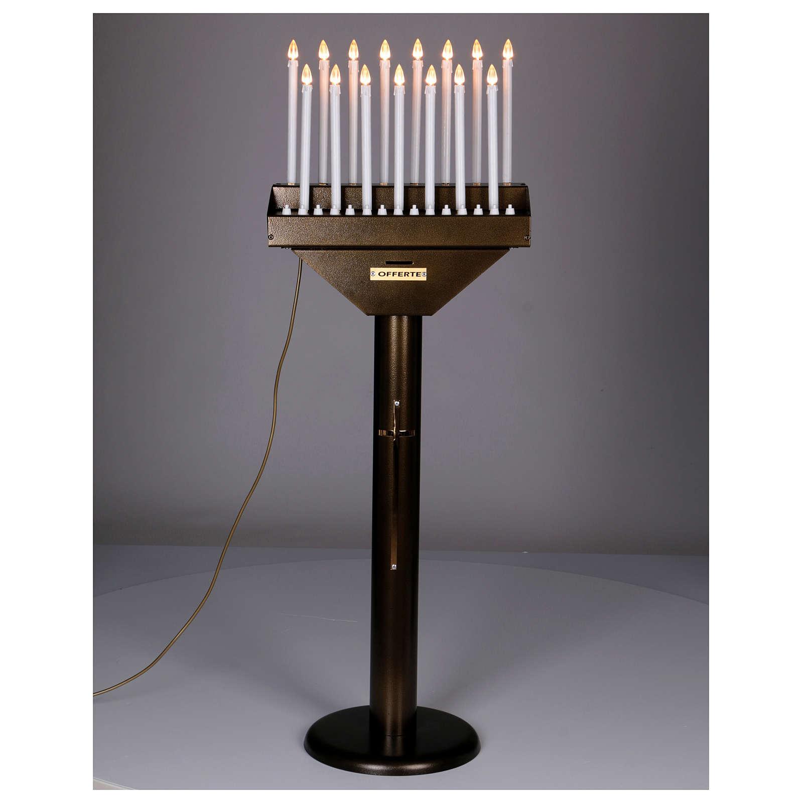 Lampadario electónico para ofrendas 15 velas, lámparas con botones 12 V 4
