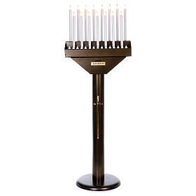 Lampadario electónico para ofrendas 15 velas, lámparas con botones 12 V s1