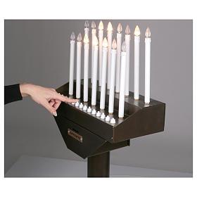 Lampadario electónico para ofrendas 15 velas, lámparas con botones 12 V s5
