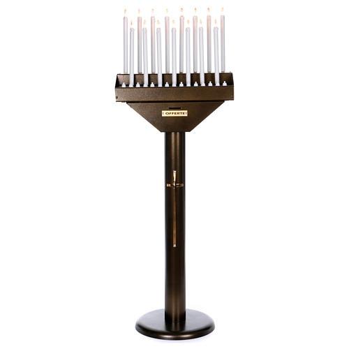 Lampadario electónico para ofrendas 15 velas, lámparas con botones 12 V 1