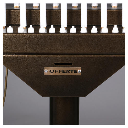 Lampadario electónico para ofrendas 15 velas, lámparas con botones 12 V 6