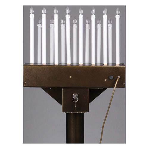 Lampadario electónico para ofrendas 15 velas, lámparas con botones 12 V 8