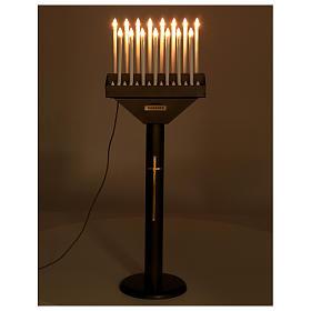 Votivo elettrico offerte a 15 candele lampadine 12 V pulsanti s3