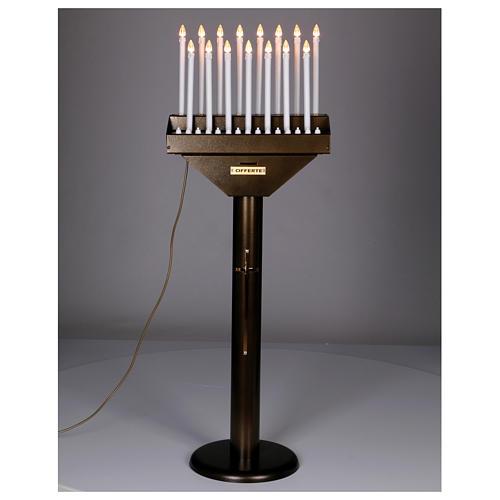Votivo elettrico offerte a 15 candele lampadine 12 V pulsanti 2
