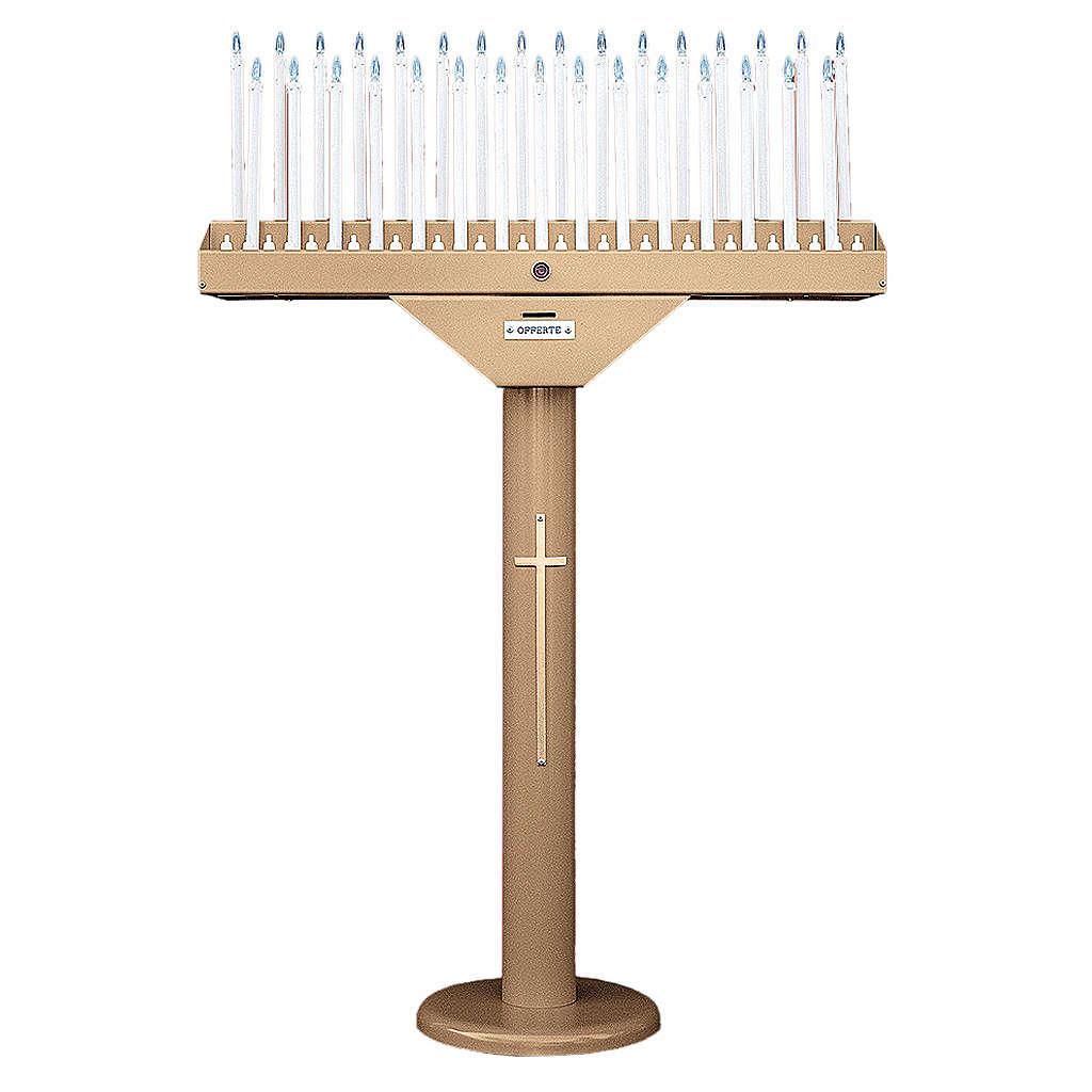Porte-cierge électrique à 31 bougies ampoules 12V et transformateur 4