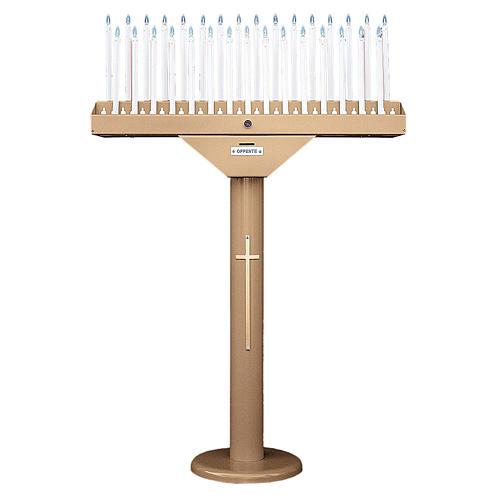 Porte-cierge électrique à 31 bougies ampoules 12V et transformateur 1