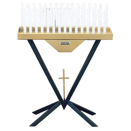 Brûloir électronique 31 bougies ampoules 12V et croix 1