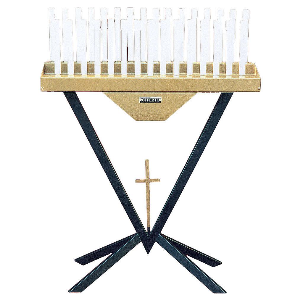 Votivo elettronico 31 candele lampadine 12 V e croce 4