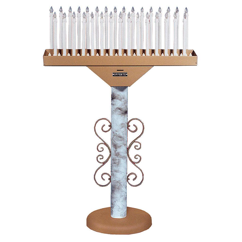 Votivo elettrico 31 candele lampade 12 V pulsanti trasformatore 4