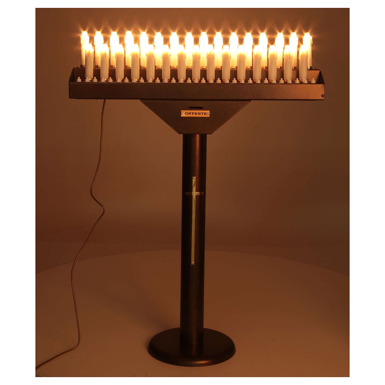 Brûloir électrique 31 bougies à 24Vcc boutons ampoules 4