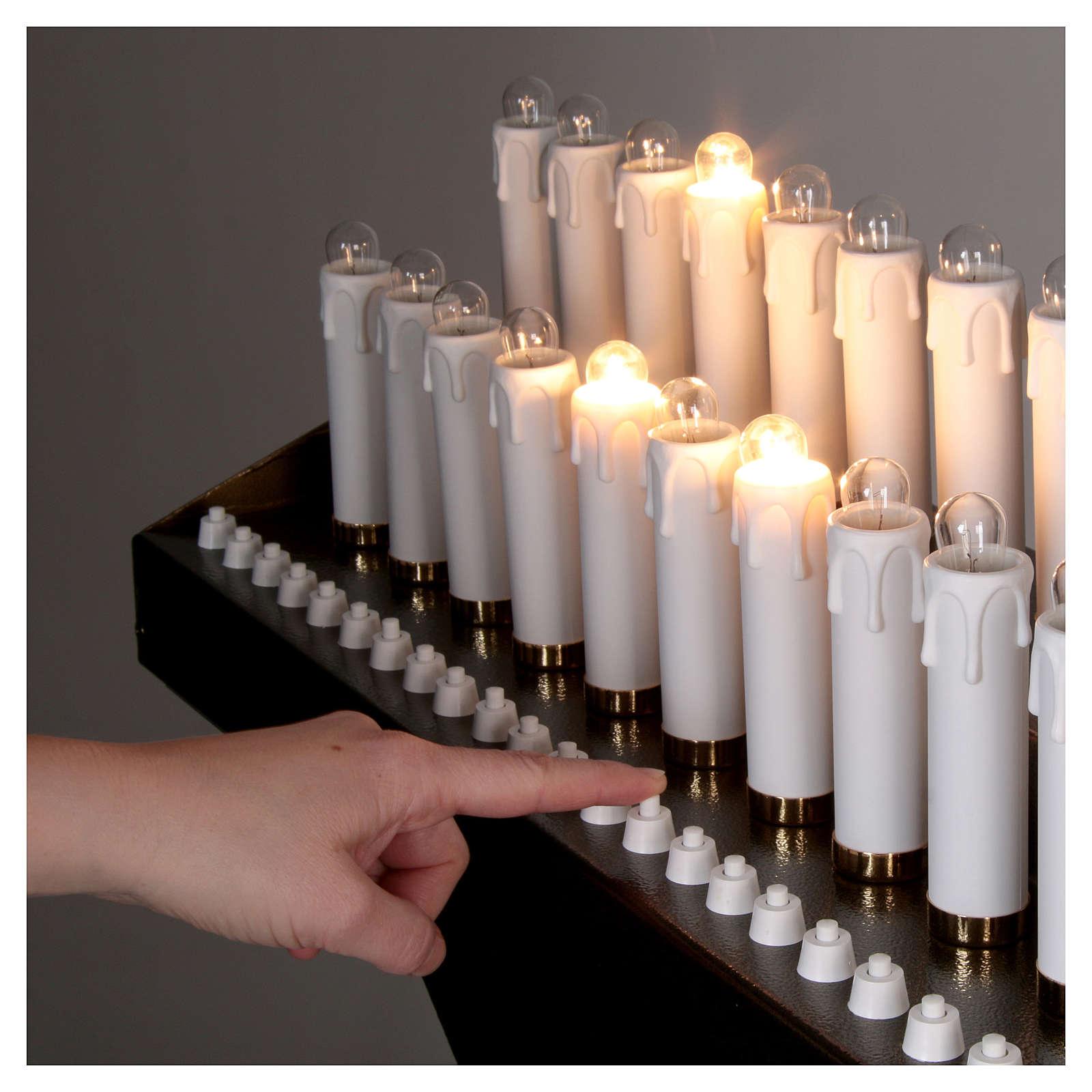 Votivo elettrico 31 candele a 24Vcc pulsanti lampadine 4